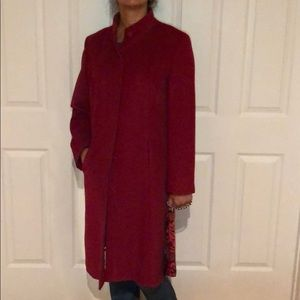 Ann Taylor Red Coat in wool/cashmere blend